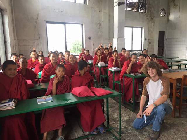 Volunteering Nepal Review Michael Jenkins Teaching Monastery