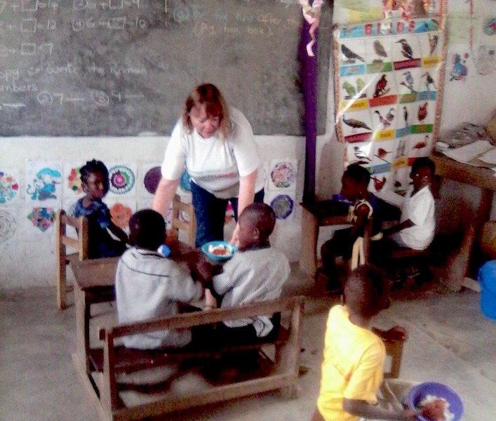 Meal time Volunteer Ghana