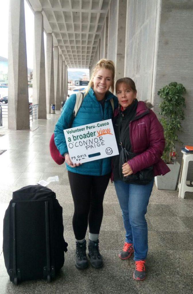 Peru Cusco Airport arrival